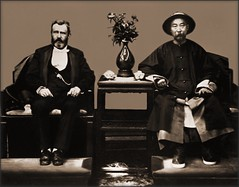 Ulysses S. Grant & Li Hung Chang, Tientsin, China [1879] Attribution Unk [RESTORED]