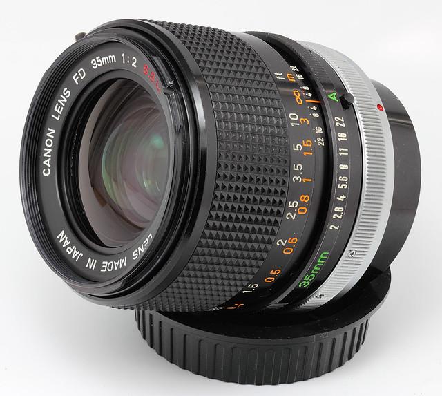 Canon FD 35mm f/2 S.S.C. Lens