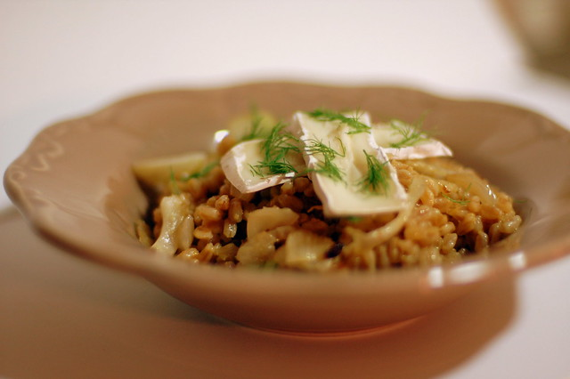 Fennel and blood orange farro risotto with baby brie-1 | Flickr ...