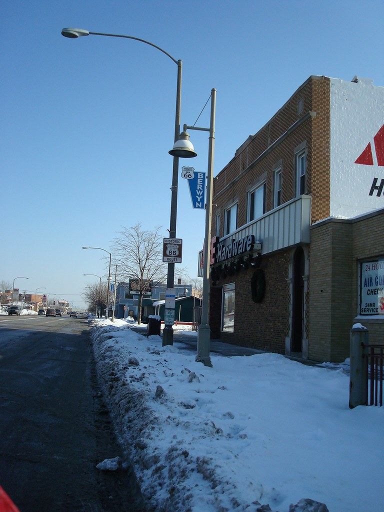 The town of Berwyn, Illinois has lined Ogden Avenue with