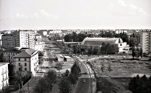 Milano Piazza Stuparich e il Palalido - Giugno 1960