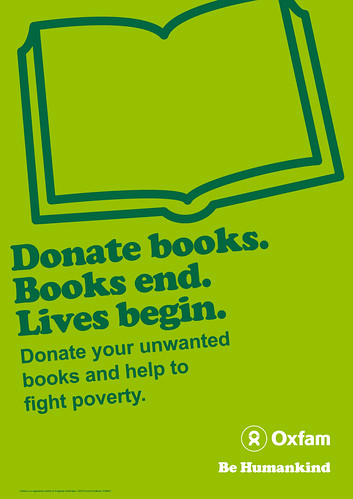 Donate books poster from Oxfam