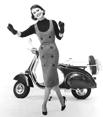 Vespa scooters & tight skirts by 50'sfan
