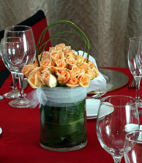 Centro de mesa rosas naturales flickr photo sharing - Centros de mesa naturales ...