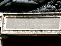 Dedication to Diane de Poiters - above the door of Chateau d'Anet