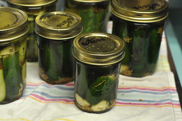 pickled cukes and jalapenos