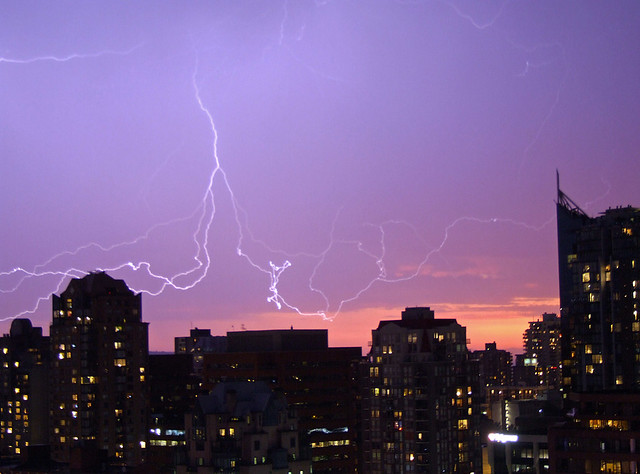 Lightning Over Vancouver