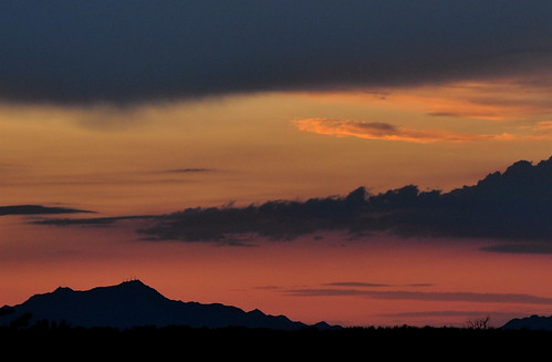 sunset arizona landscape desert tucson scenic scene sonorandesert desertsunset desertsky