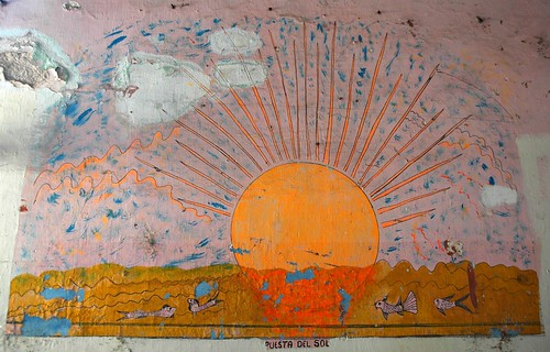 flowers sunset sun fish clouds sunrise painting mexico mural colorful paint folkart bright antique fineart mexican mazatlan charming quaint sinaloa linedrawing delightful fallingapart puestadelsol refined hotelbelmar wonderlane 8660 ravagesoftime inagarage antiquemexicanpainting