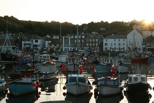 Mevagissey at sunset by Stocker Images