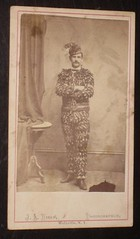 """A Man for all seasons""            dressed in Leaves antique cabinet photo from the victorian age"