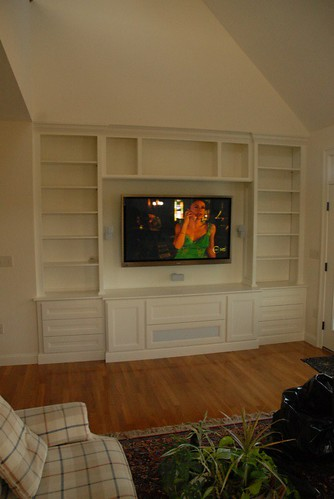 Wall Mounted TV Component Storage
