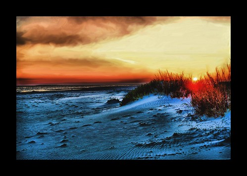 sunset beach dusk dune dauphineisland alabam colorphotoaward