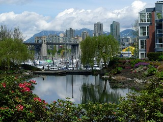 Burrard Bridge from the Lagoons apartment buildings