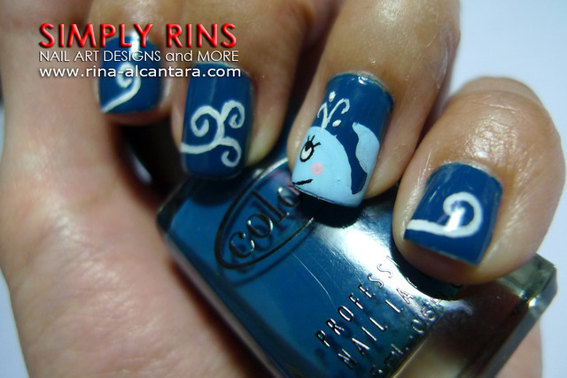 Nail Art Whale 07 | Flickr - Photo Sharing!