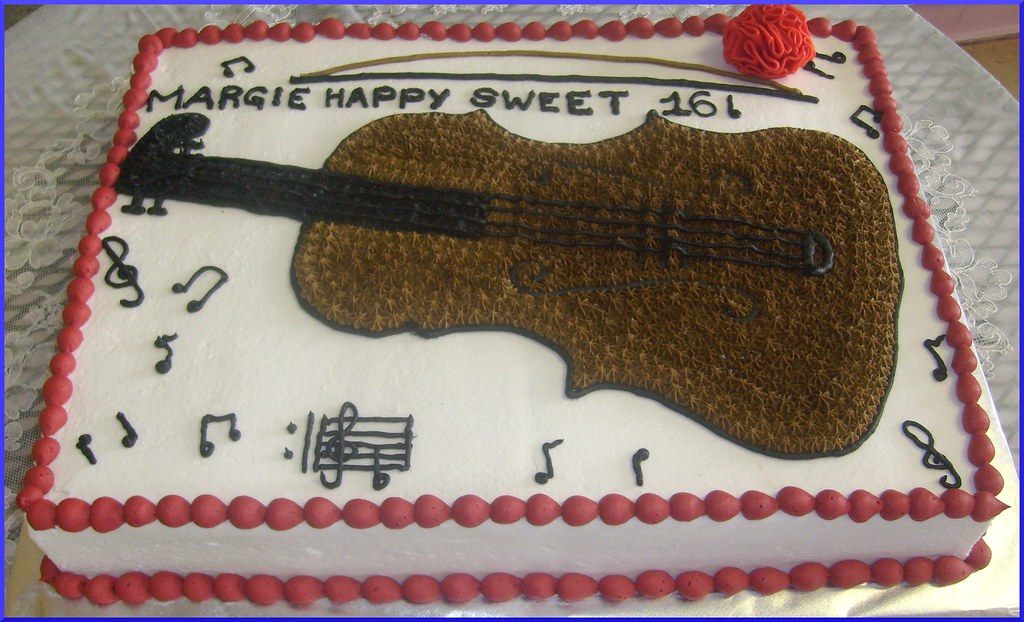 Violin Birthday Cake