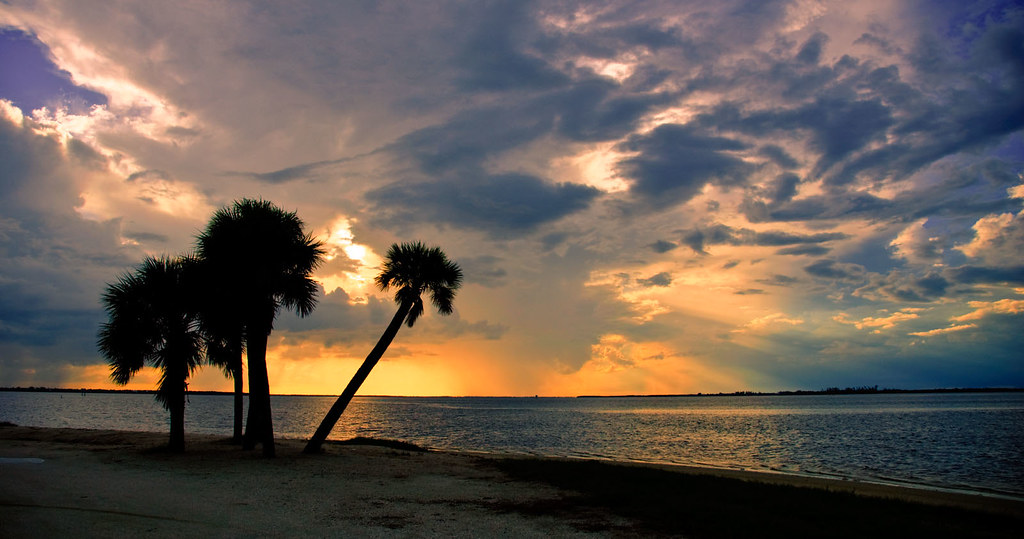 Sunset over Sanibel Island