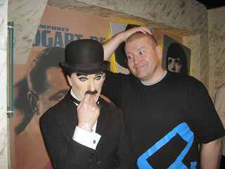 Sir Charles Spencer Chaplin jr @Madame Tussuad's in Amsterdam.