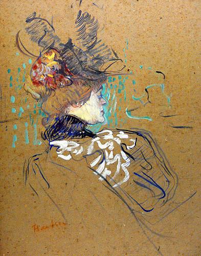 Toulouse-Lautrec, Portrait of Madame Lucy