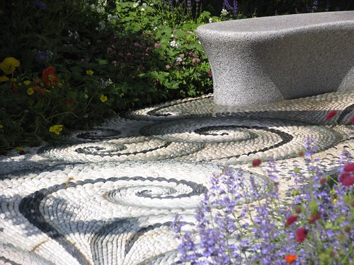 Decorative garden cobbles