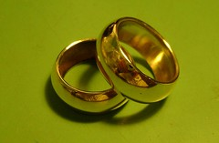 Two soldered brass rings