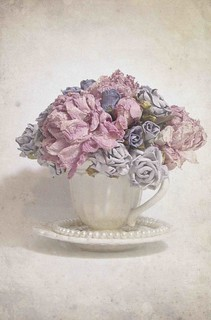 Dried Flowers in a teacup