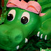 Girly Alligator Birthday cake - detail
