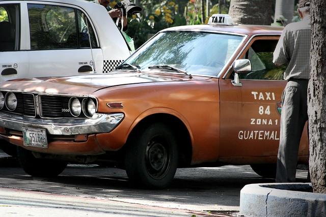 Toyota Corona taxi in Guatemala City | Flickr - Photo Sharing!