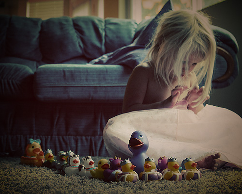 a princess and her duckies
