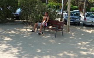 Image of Platja de la Nova Icària near GTD. barcelona shirtless man catalonia catalunya shirtlessman