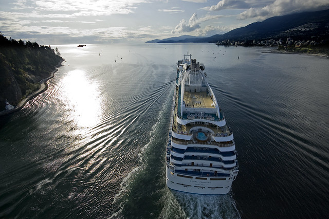 Cruise Ship Leaving Vancouver Harbour  Flickr  Photo