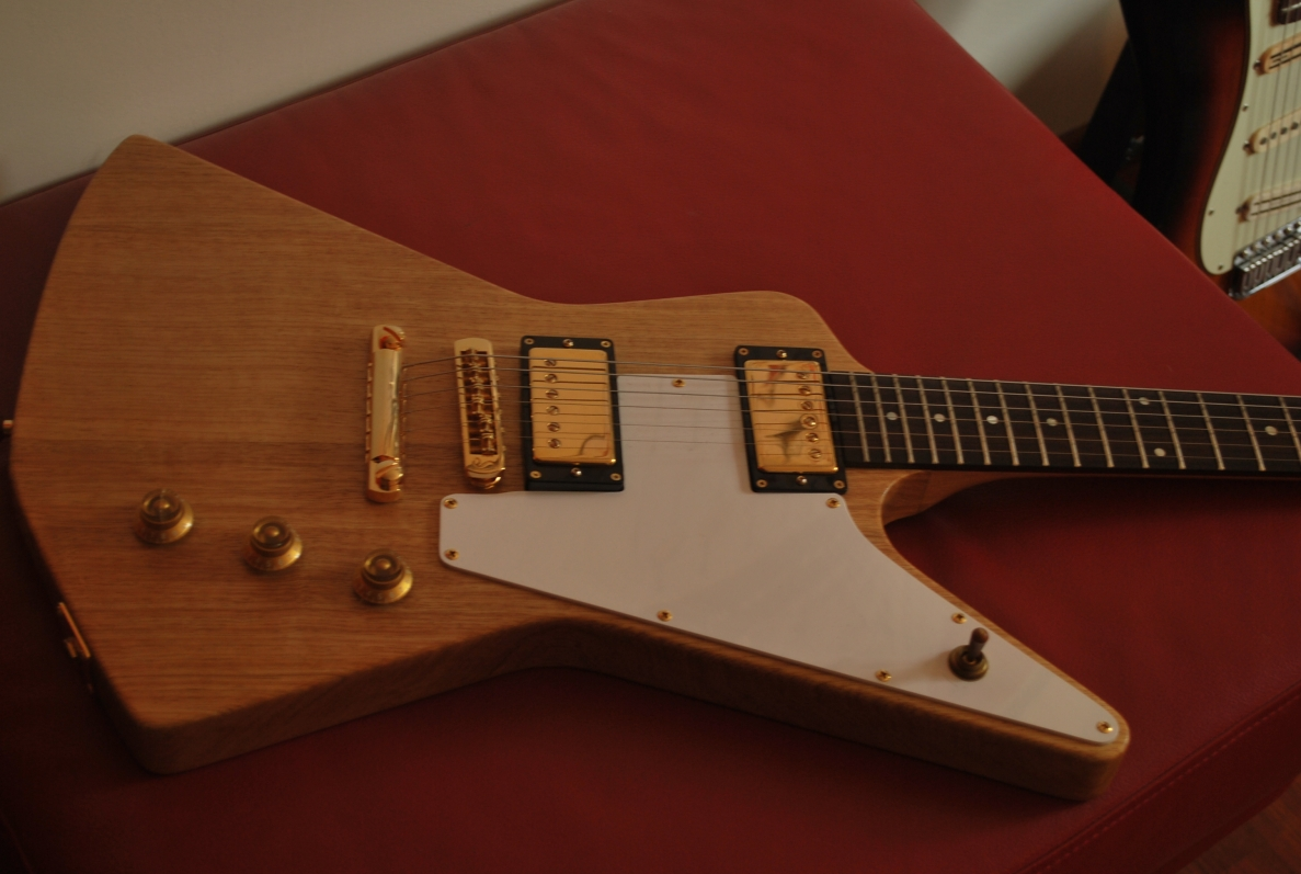 Orville by Gibson Korina Prototype Eric Clapton Cut Explorer (no serial number) - EXTREMELY RARE