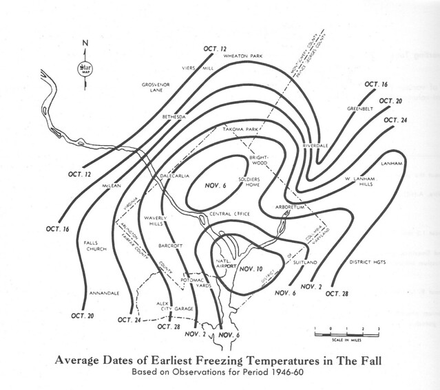 Fall freeze map