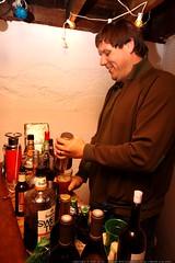 taiga mixing drinks in his basement    MG 6226