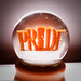 Sculpture: Deadly Sins (Snowglobes): Pride, Pure Products USA, by Nora Ligorano and Marshall Reese, Eyebeam Open Studios Fall 2009 / 20091023.10D.55559.P1.L1.SQ / SML