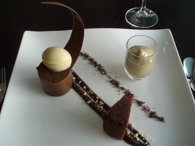 sorbet chocolate tuile muscovado espuma ground cocoa nibs chocolate ...
