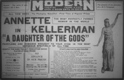 "June 17 - Modern - Annette Kellerman in ""A Daughter of The Gods"""