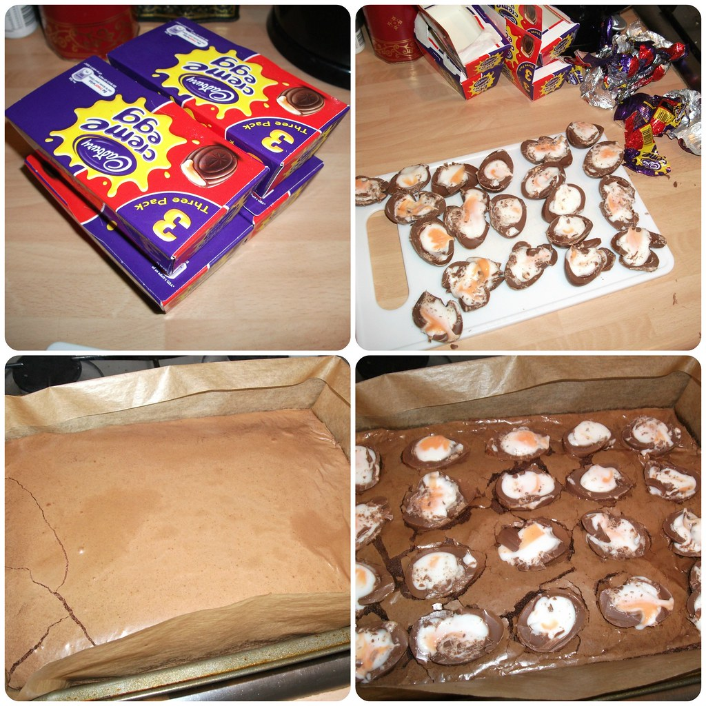 Creme Egg Brownies Recipe 3