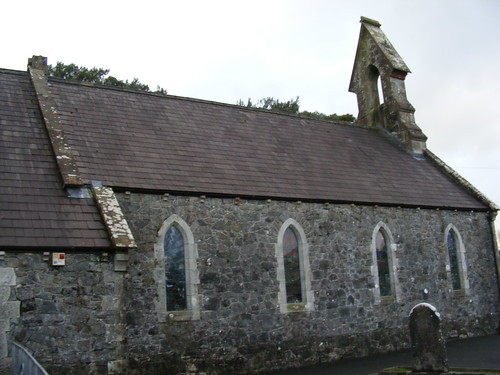 Old Church of Ireland Building now housing the New Ballagh Centre in Rossinver Co. Leitrim Ireland