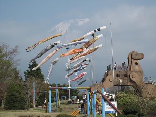 Mt Fuji, Koinobori