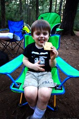 eating his first s'more ever    MG 9688