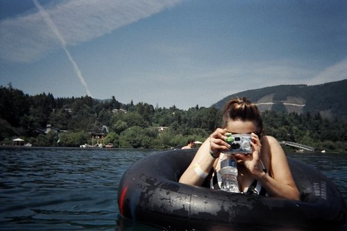 Tubing on Cowichan River