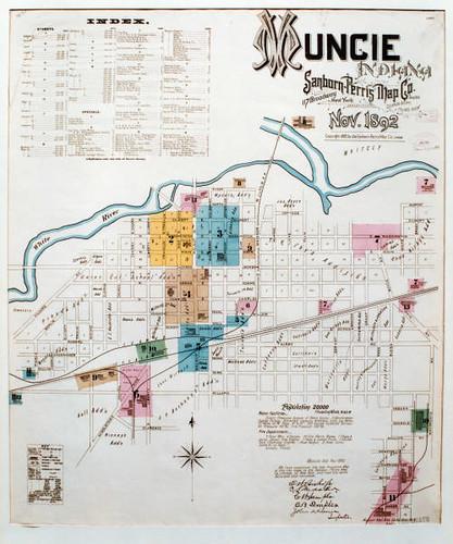 Muncie Indiana Sanborn Fire Insurance Map 1882  Flickr