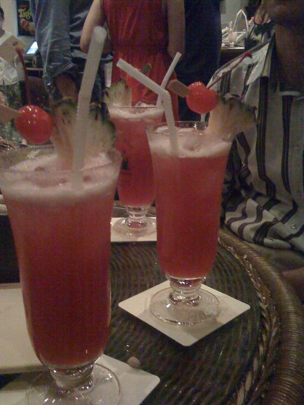 Singapore Sling cocktail.