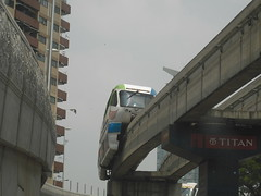 vehicle, train, transport, public transport, monorail, rolling stock, overpass,