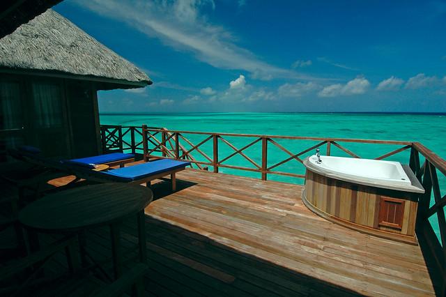 Terrace at Honeymoon Water Villa