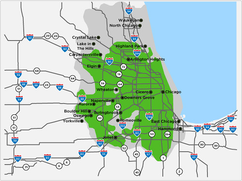 clear wimax Chicago map