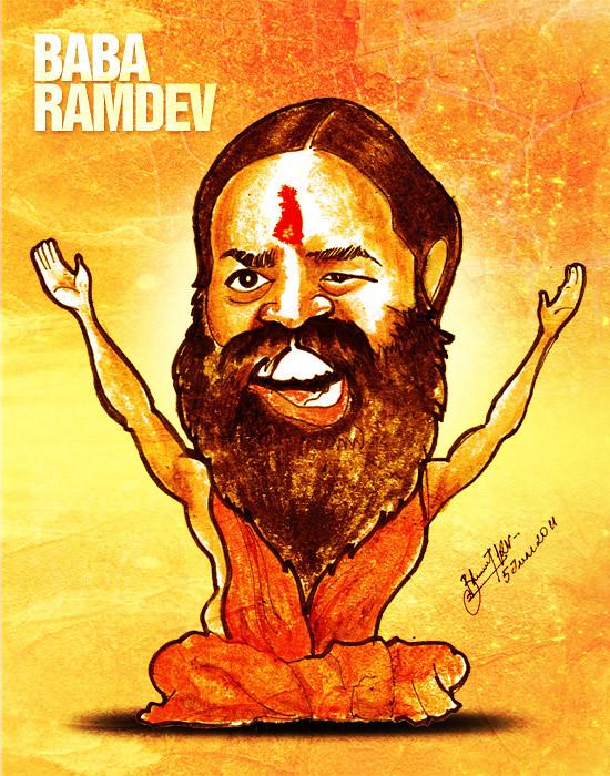 Baba Ramdev - Caricature