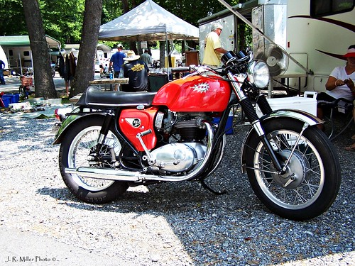 BSA Motorcycle: Old British Motorcycle Rally