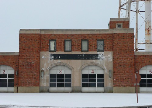 Rantoul, IL old Chanute AFB Fire Station close-up
